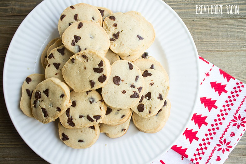 Eggnog Chocolate Chip Butter Cookies are sure to be the hit of your Christmas cookie plate!