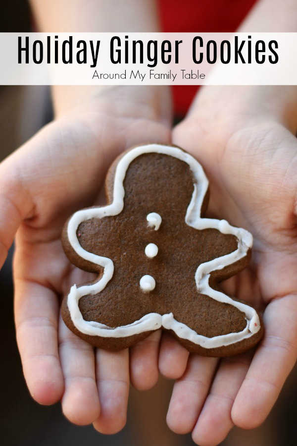 These Holiday Ginger Cookies are perfect for any holiday party or cookie exchange and are super easy to make too. #christmascookies #gingercookies #gingerbread