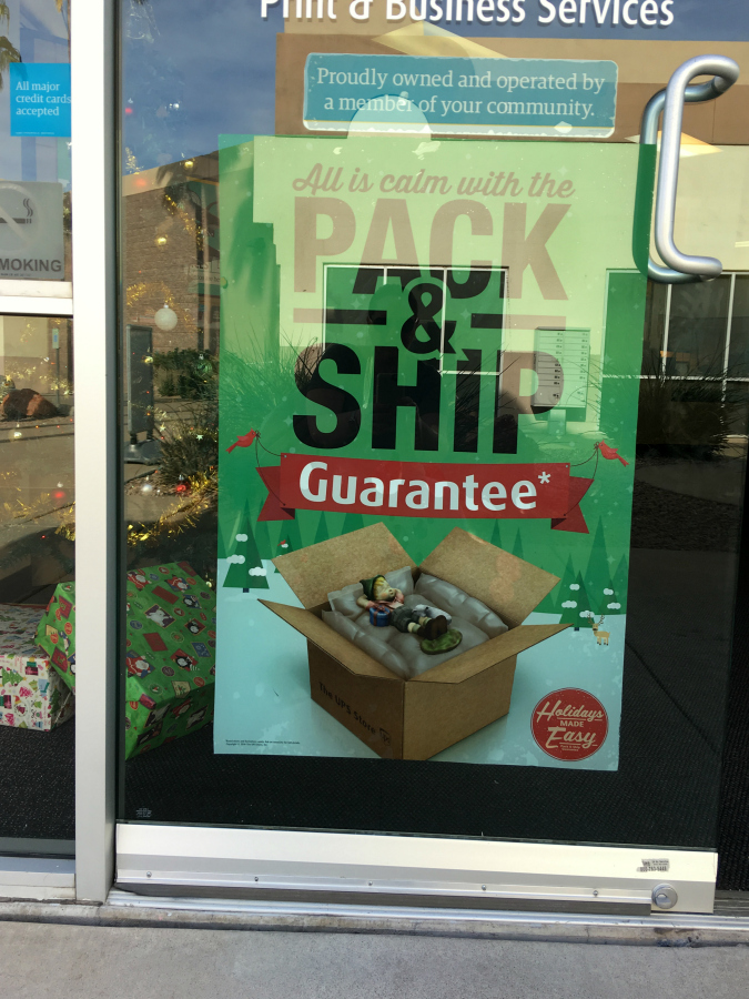 UPS Pack & Ship Guarantee