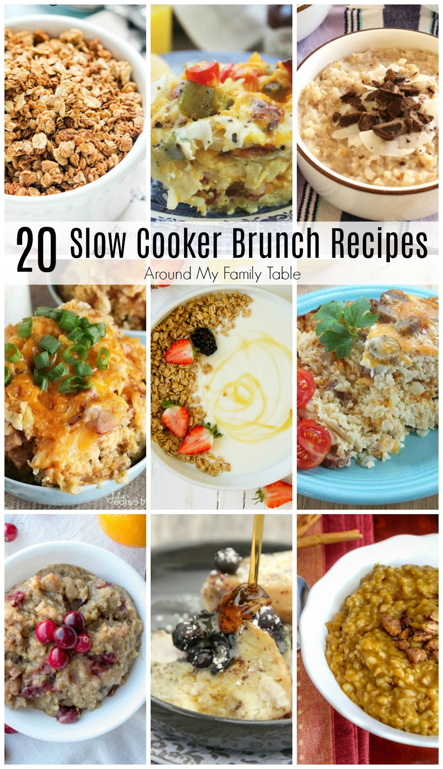 Slow cooker brunch recipesare the perfect thing to make for a weekend brunch! These crock pot recipes are easy to prep and they're absolutely delicious too!