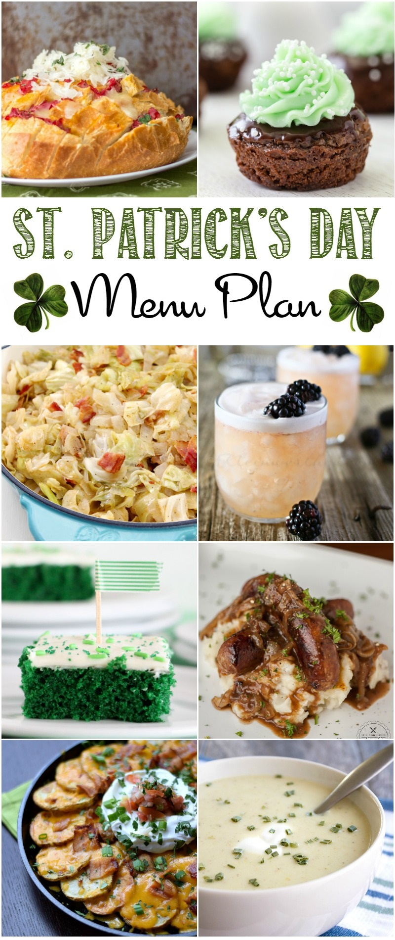 I've got everything you need for the perfect St. Patrick's Day Menu from appetizers to desserts....you'll be feelin' the luck of the Irish for sure.
