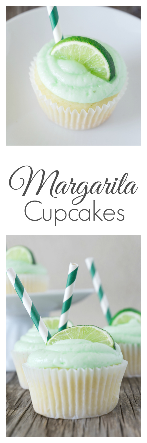 Fresh lime juice, a splash of tequila, and a pinch of salt make these Margarita Cupcakes irresistible.