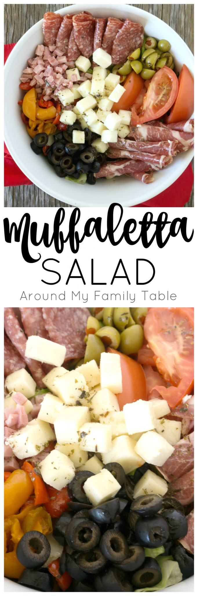 There is nothing better for supper on a hot evening than a delicious salad. This Muffaletta Salad has all the flavors you expect in the traditional sandwich, but in salad form!