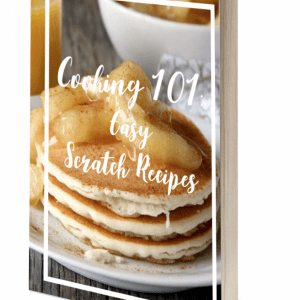 Wish you could make some basic recipes from scratch? My Cooking 101: Easy Scratch Recipes eBook is filled with my favorite recipes that everyone should know how to make from scratch! They are simple enough for beginners and use regular grocery store ingredients!