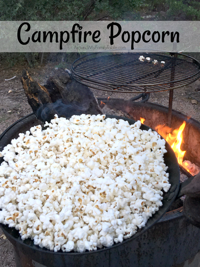 We used to bring that little tin pan and pop it over the campfire until I hacked the idea and came up with my own version. Every went crazy over this Campfire Popcorn.