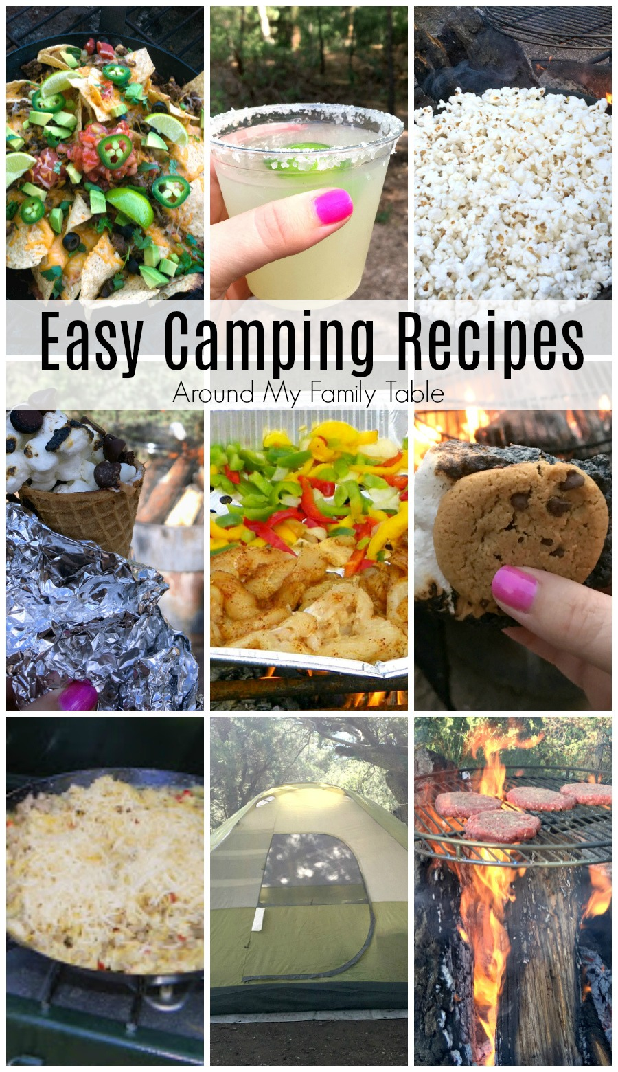 Your next family camping trip will be less stressful and awhole lot tastier with these easy camping recipes. #camping #campingrecipes #outdoorcooking