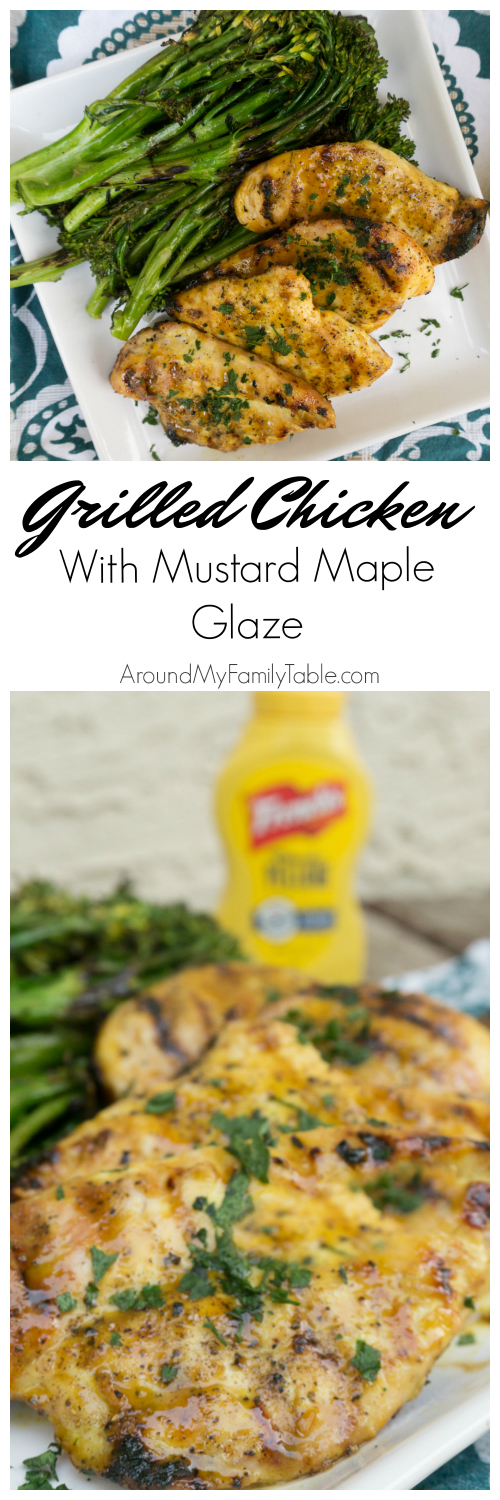 Only 5 Ingredients!!! Grilled Chicken will hit the spot with a sweet and tangy Maple Mustard Glaze that will make you go back for seconds!