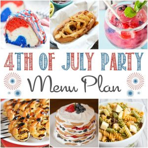 collage of 4th of july recipes