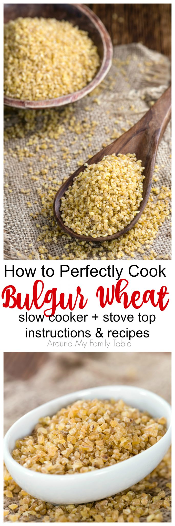 Bulgur Wheat is one of the easiest grains to cook and super simple for swapping out other grains. Learning How to Cook Bulgur Wheat properly has really opened up a whole new world of grains for my family.