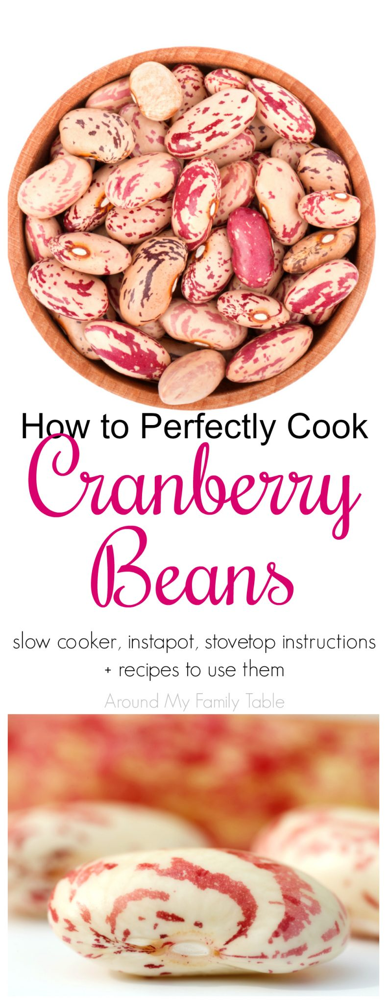 Everything you've wanted to know about Cranberry Beans. This How to Cook: Cranberry Beans guide features instructions on using a slow cooker, pressure cooker, instantpot, and stovetop for cooking cranberry beans plus there are a few delicious recipes to try as well.