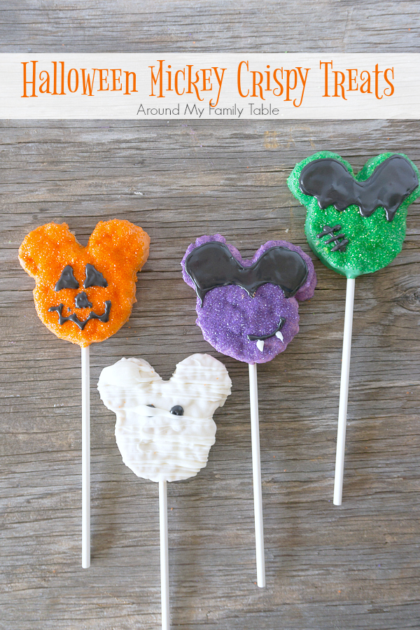 You won't believe how simple and easy these Homemade Disney Halloween Mickey Crispy Treats are to make. They are perfect for Disney fans, young and old.
