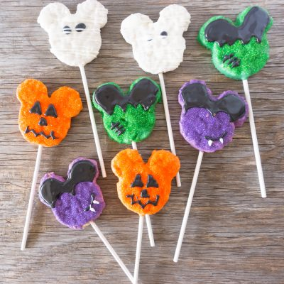 Homemade Disney Halloween Mickey Crispy Treats