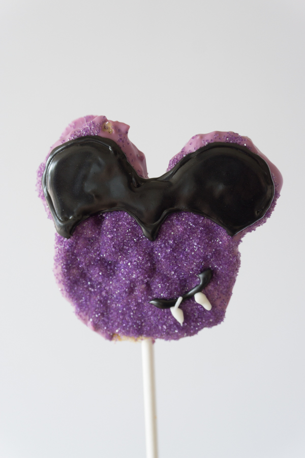 Love this Mickey Vampire Crispy Treat! You won't believe how simple and easy these Homemade Disney Halloween Mickey Crispy Treats are to make.