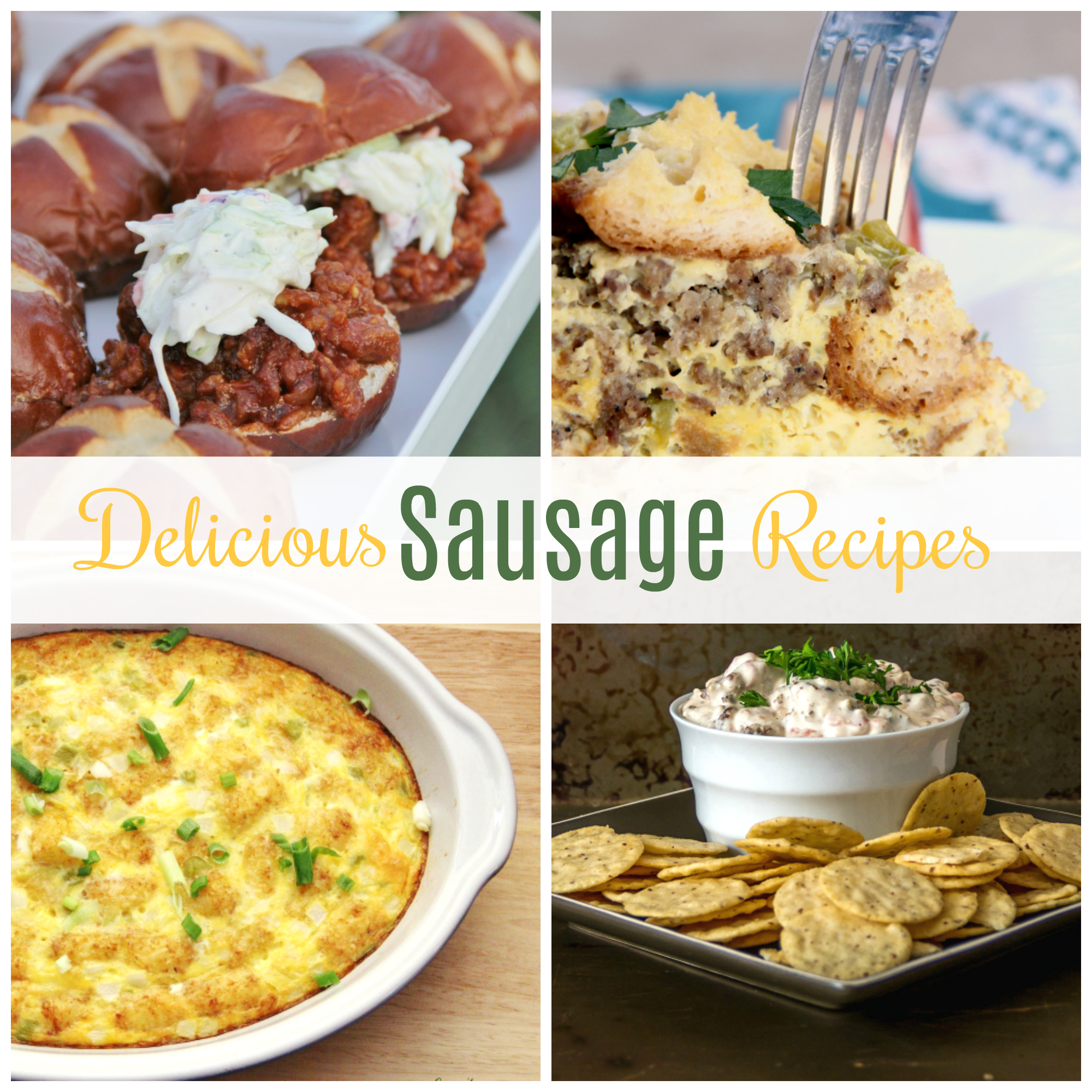 These are my favorite sausage recipes for breakfast, lunch, and dinner.  Love this collection of Delicious Sausage Recipes.