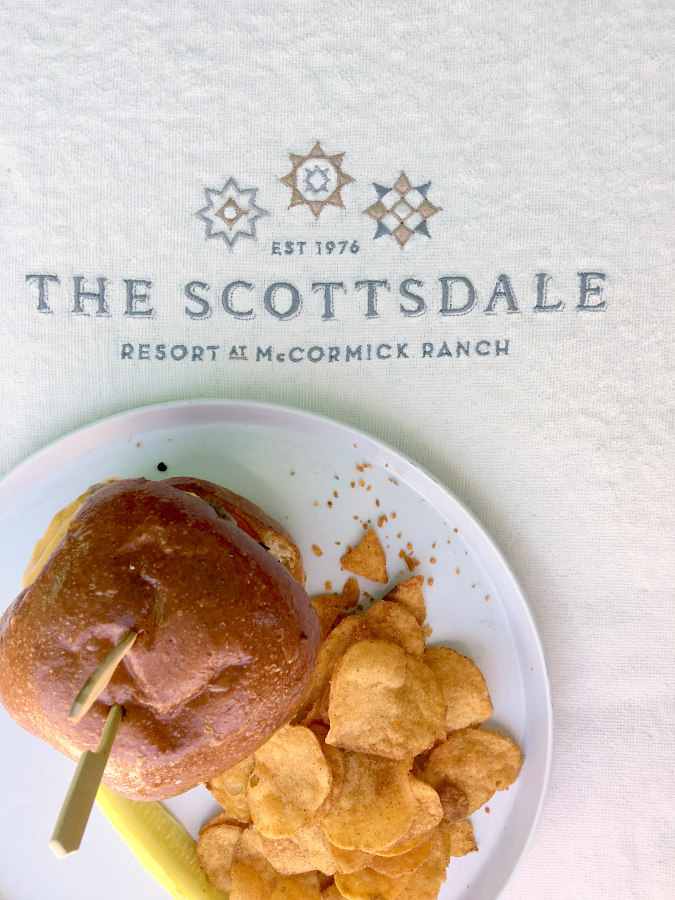 Lunch, poolside, at The Scottsdale Resort