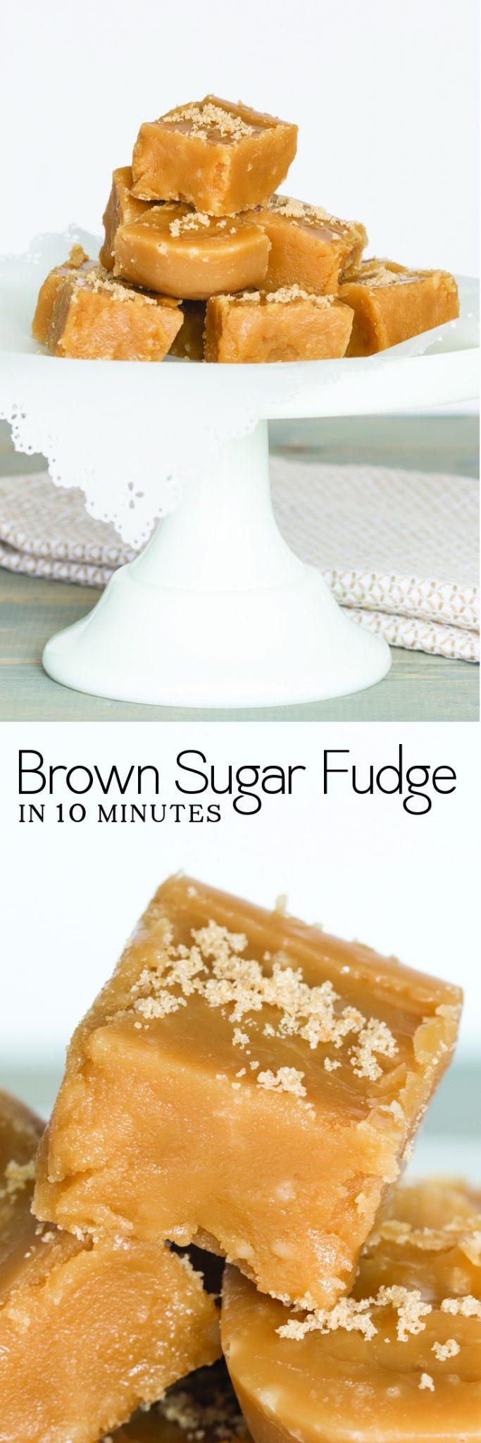 brown sugar fudge image collage