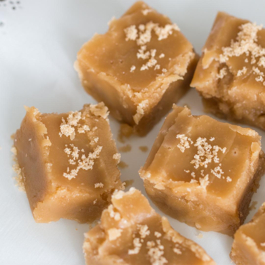 pieces of brown sugar fudge