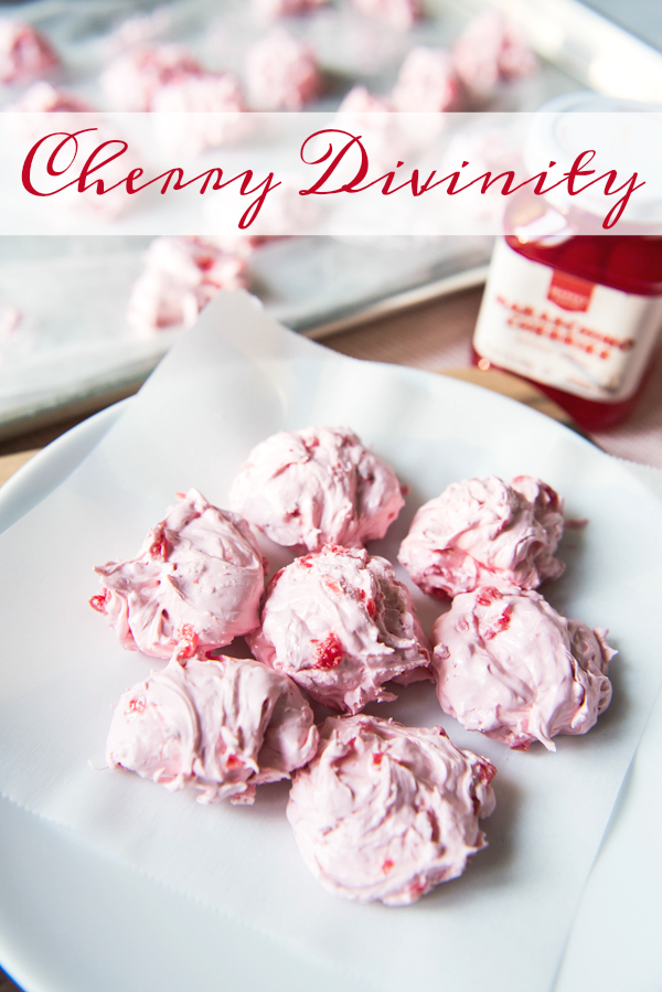 Cherry Divinity is a fun, delicious vintage candy recipe that is perfect for enjoying and gifting during the holidays!