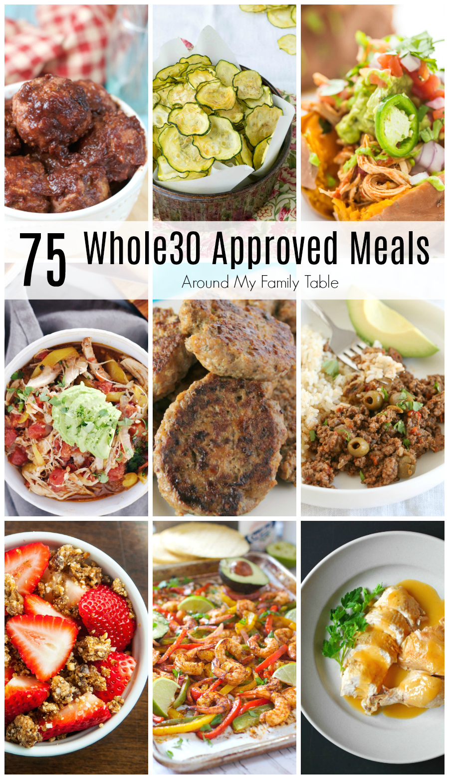 One Month of Whole30 Recipes is all you'll need to successfully complete a round of Whole30.  From delicious suppers to snacks and even a few desserts.  The month will fly by with the help of these recipes! #whole30 #whole30recipes #healthyrecipes