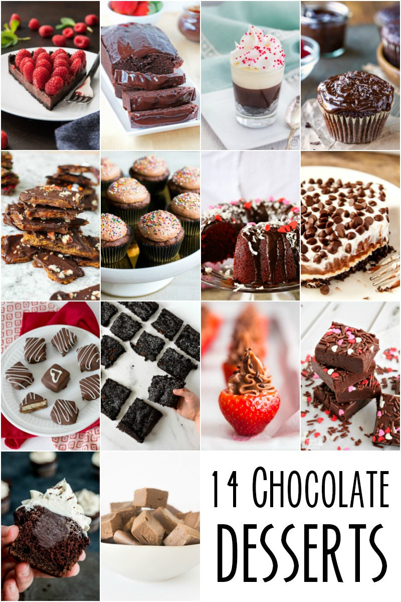 14 Amazing Chocolate Desserts.   These would be great to satisfy any chocolate craving or for a special Valentine's Day dessert.