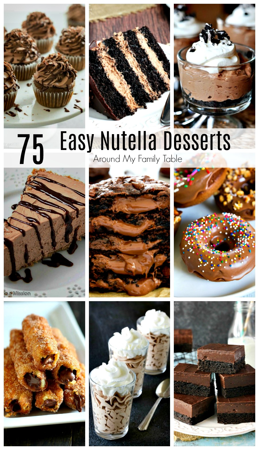 75 of the best Nutella Dessert Recipes all in one place! This list includes all of my favorite Nutella desserts that are sure to satisfy your chocolate cravings.#nutella #nutelladesserts #nutelladay