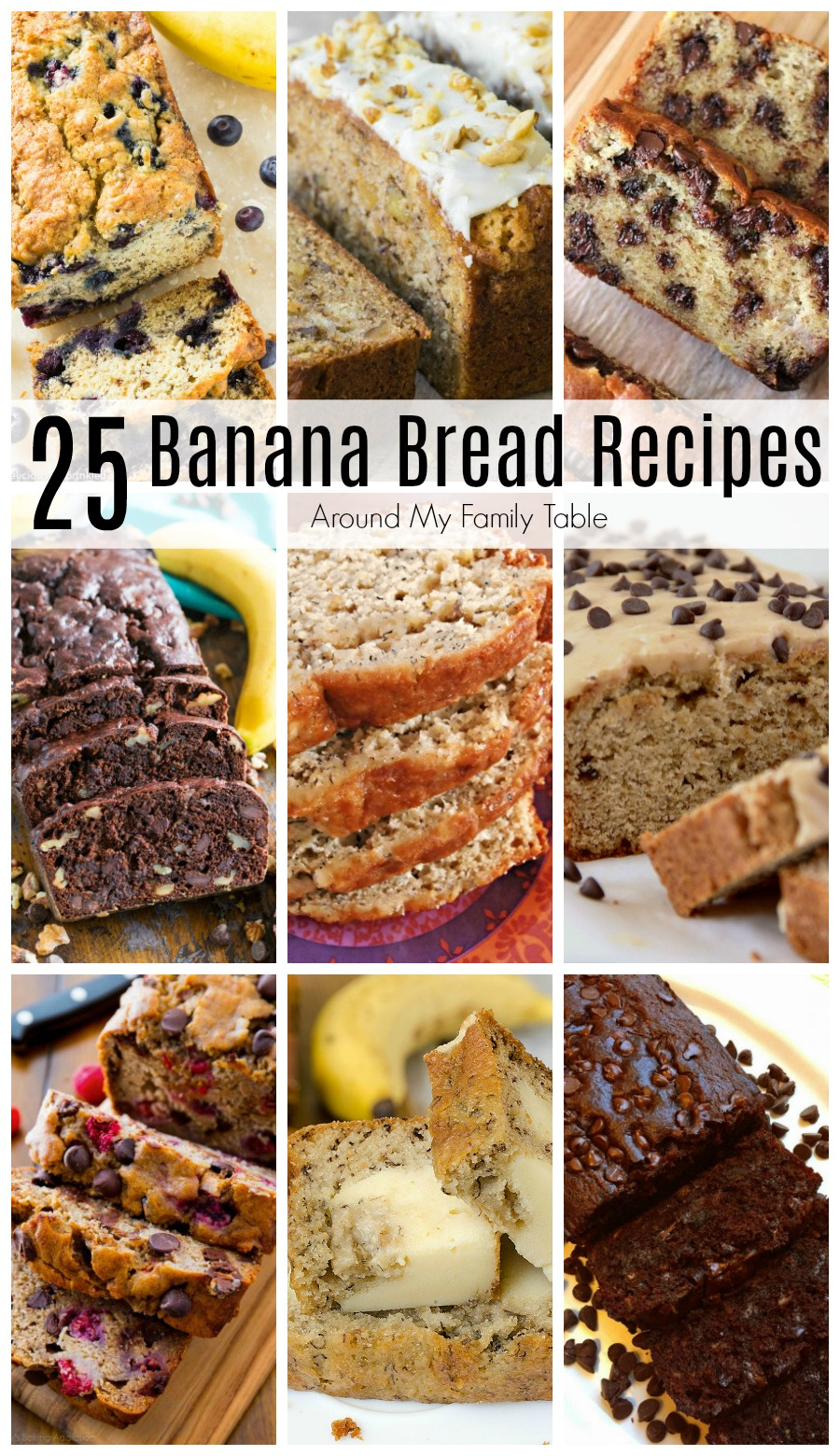I've found all the Best Banana Bread Recipes and put them in one place!  From the simplest to the most decadent...you'll love them all! #bananabread #quickbreads