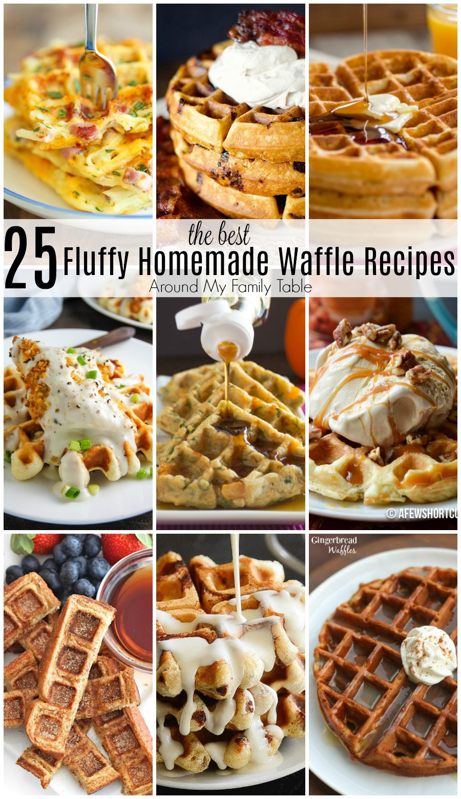 Weekends demand waffles!  It's a thing...promise.  So, I've gathered 25 of the best homemade waffle recipes for a delicious breakfast the whole family will love.