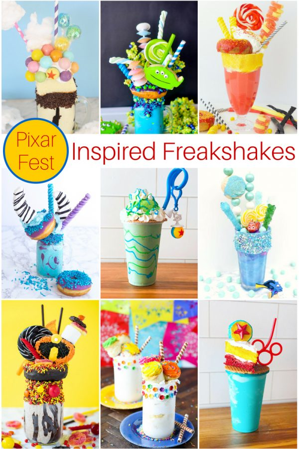 Disney Pixar FreakShake Recipes #disney #freakshake #milkshakes #pixar