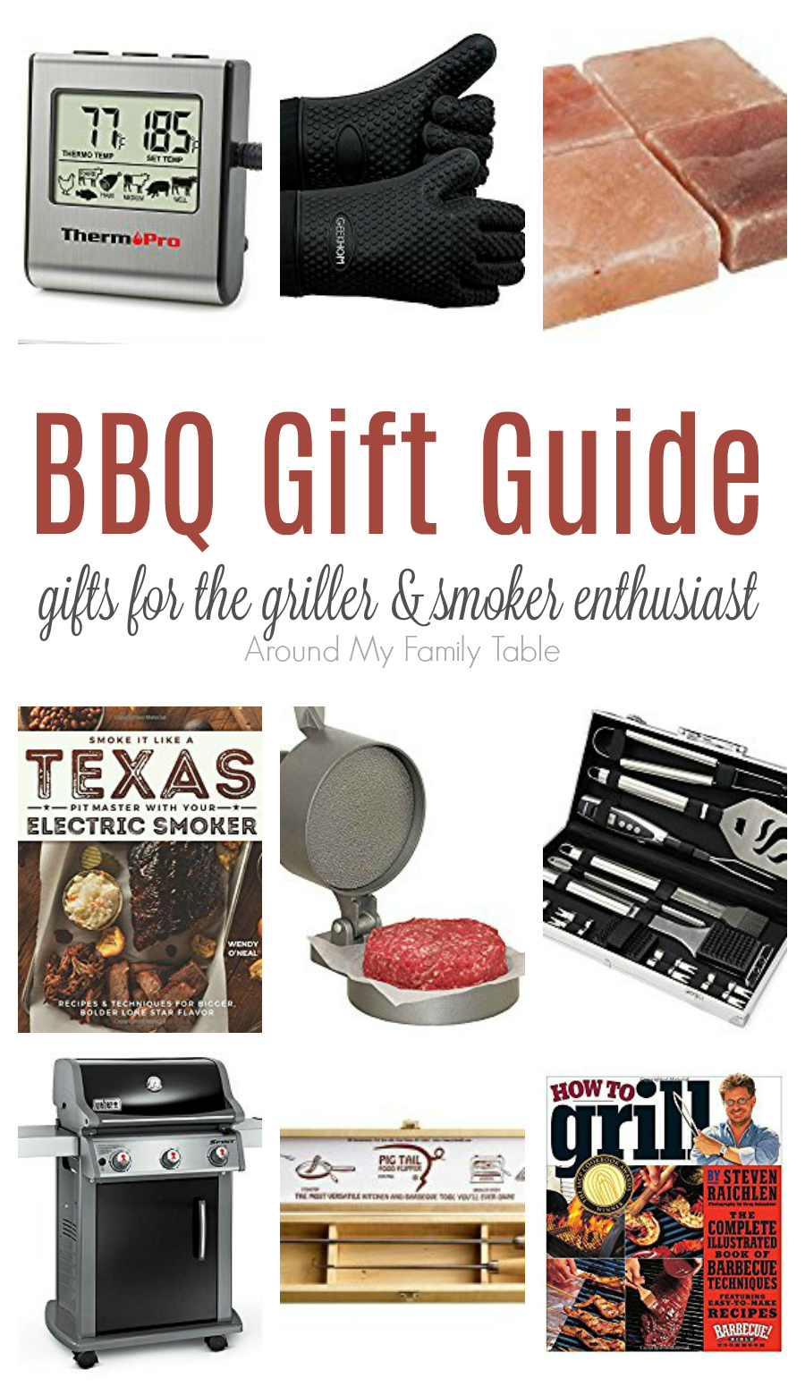Are you looking for the perfect BBQ Gift Ideas?  Then this BBQ Gift Guide is just what you are looking for.  Whether you are shopping for Father's Day, a birthday, or a Christmas gift you'll find my favorite BBQ items on this list that make great gifts.