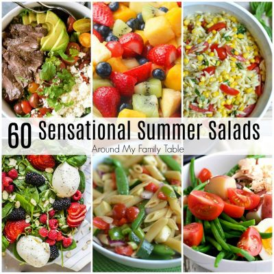 These 60 Sensational Summer Salads are perfect for those hot summer days when you need an easy side dish or a light meal.