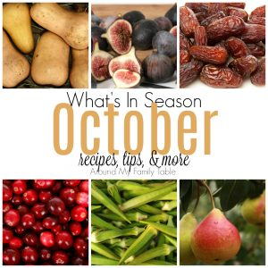 Hello on pumpkin & winter squash! This October Seasonal Produce guide has recipes, tips, and more for everything in season this month.