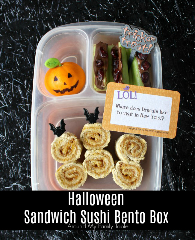 Halloween Sandwich Sushi Bento Box