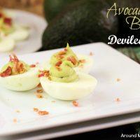 Avocado Bacon Deviled Eggs