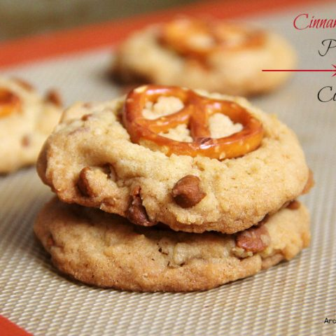 Cinnamon Chip Pretzel Cookies