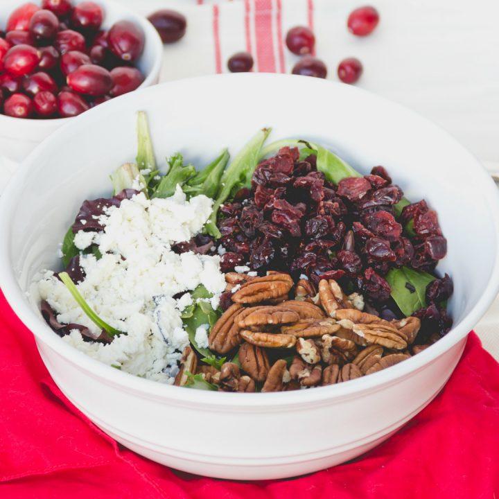 Cranberry Pecan & Goat Cheese Salad