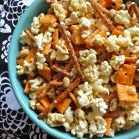 Everything but the Kitchen Sink Caramel Corn {Eat Your Heart Out}