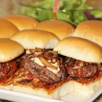 Bacon and Blue BBQ Sliders