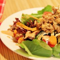Sweet Slow Cooker Pork Salad with BBQ Ranch