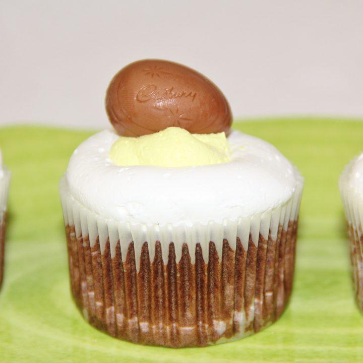 Cadbury Egg Cupcakes