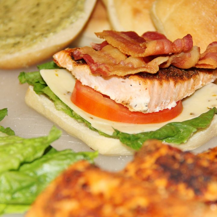 Salmon BLT Sandwiches