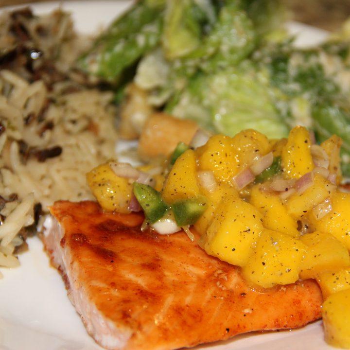 Sweet Chipotle Salmon with Mango Salsa
