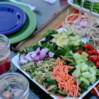 Vegan Cobb Salad with Honey Poppy Seed Vinaigrette