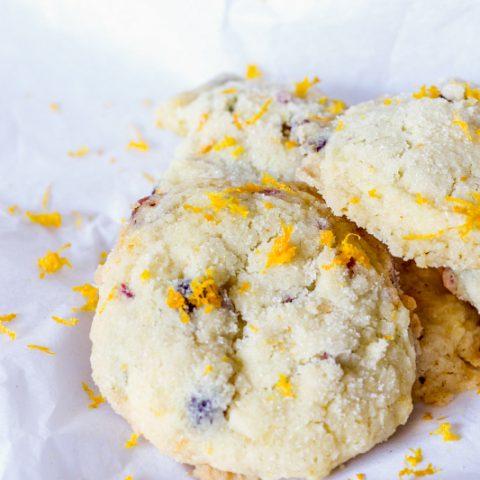 Orange Cranberry Sugar Cookies {Gluten & Dairy Free}