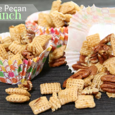 Praline Pecan Crunch Slow Cooker Snack Mix