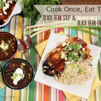 Black Bean Soup and Enchiladas