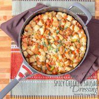 {Gluten Free} One Pot Spicy Chicken Sausage Dressing