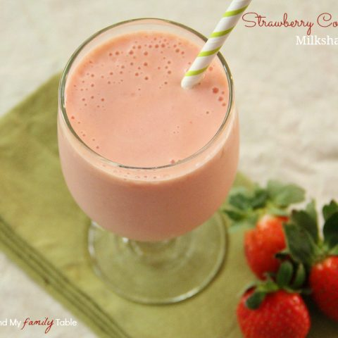Strawberry Colada Milkshakes