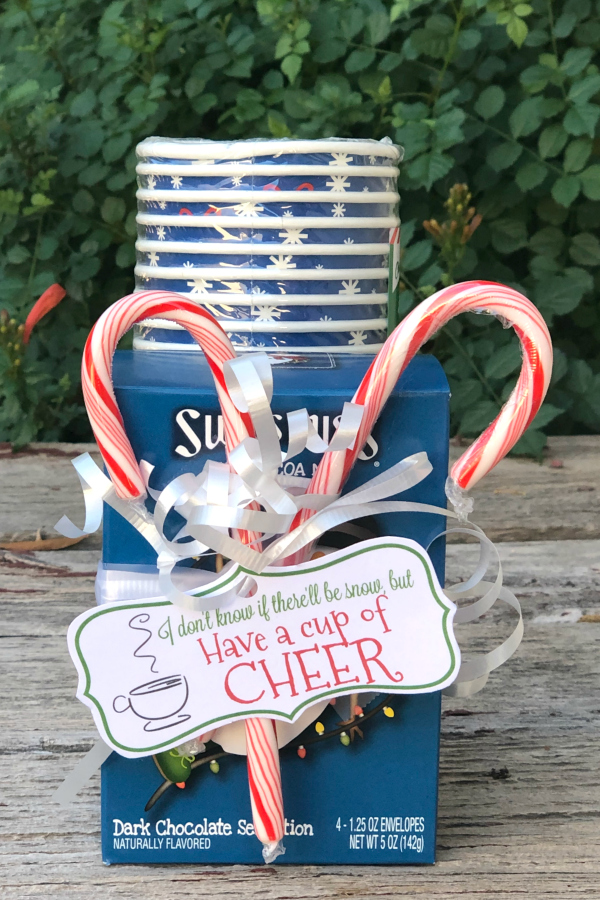 If you need a quick but festive holiday gift, then you'll love these Have a Cup of Cheer Printables with a hot cocoa gift package.