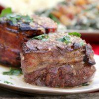 Steak with a Garlic Butter Sauce