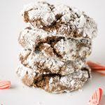 Peppermint Bark Chocolate Crinkle Cookies